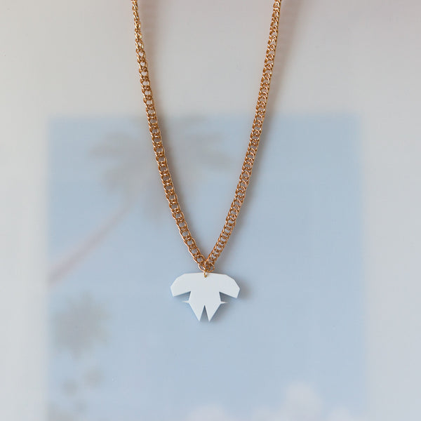 White Diamond Layer Necklace