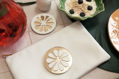 PULPY GOLD CITRON POUCH + hand mirror