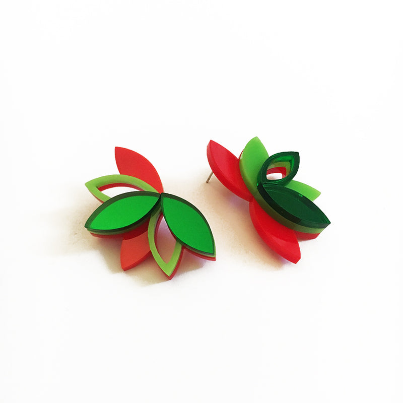 VITAL LOTUS EMERALD EARRINGS
