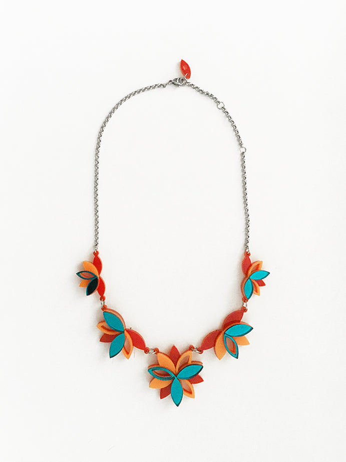 VITAL LOTUS TEAL NECKLACE