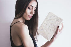 VECTORY VOID IVORY CLUTCH