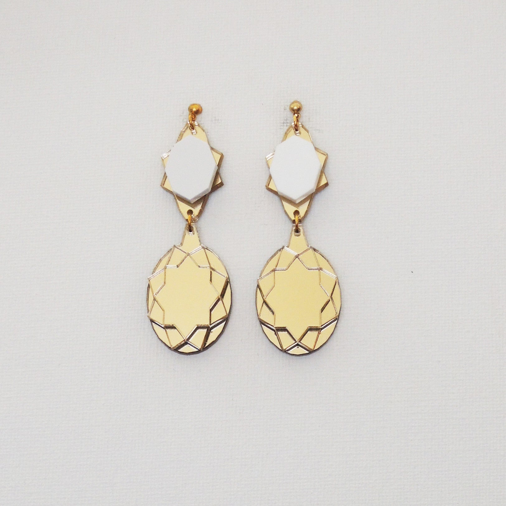 VECTORY OVAL GW MID EARRINGS
