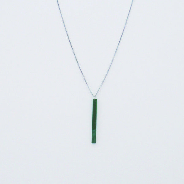 GREEN RECTANGLE NECKLACE