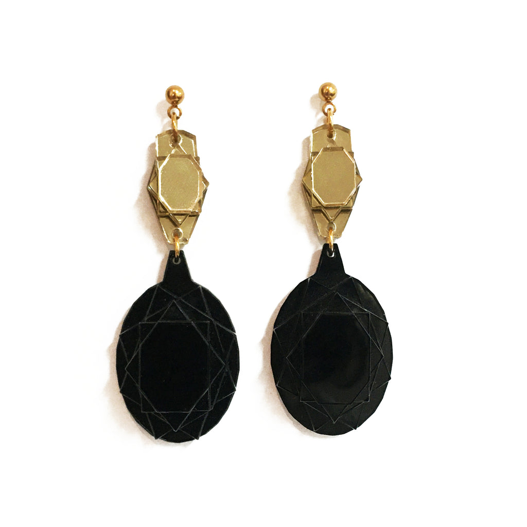VECTORY OVAL GB MID EARRINGS