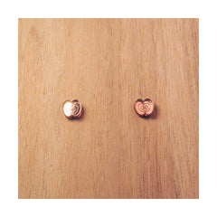 PULPY BRONZE APPLE EARRINGS