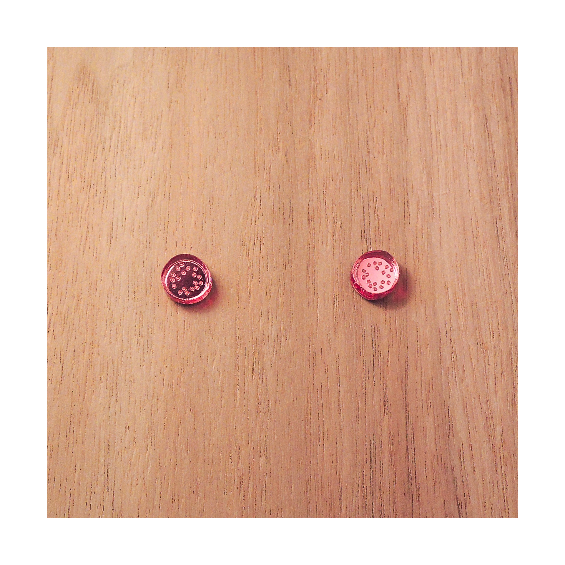 PULPY PINK PASSIONFRUIT EARRINGS