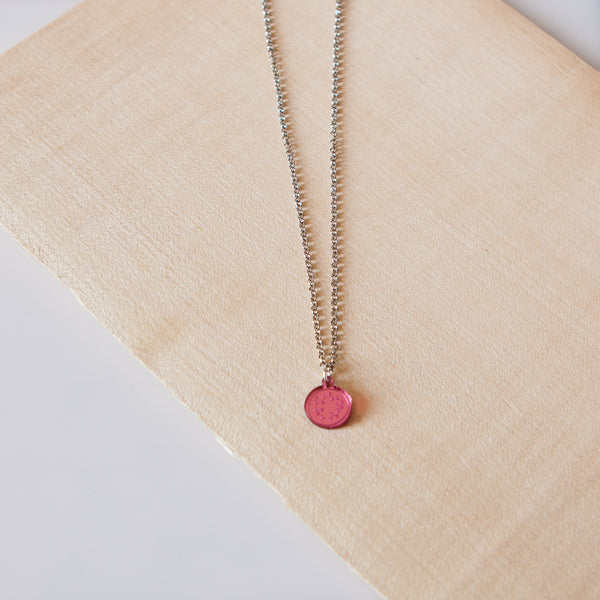 PULPY PINK PASSIONFRUIT NECKLACE