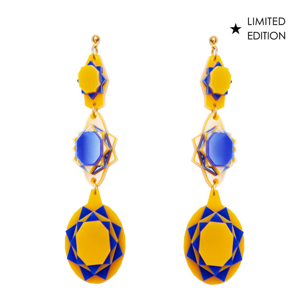 VECTORY OVAL CARIBBEAN EARRINGS