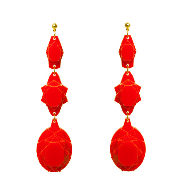 VECTORY OVAL CHERRY EARRINGS