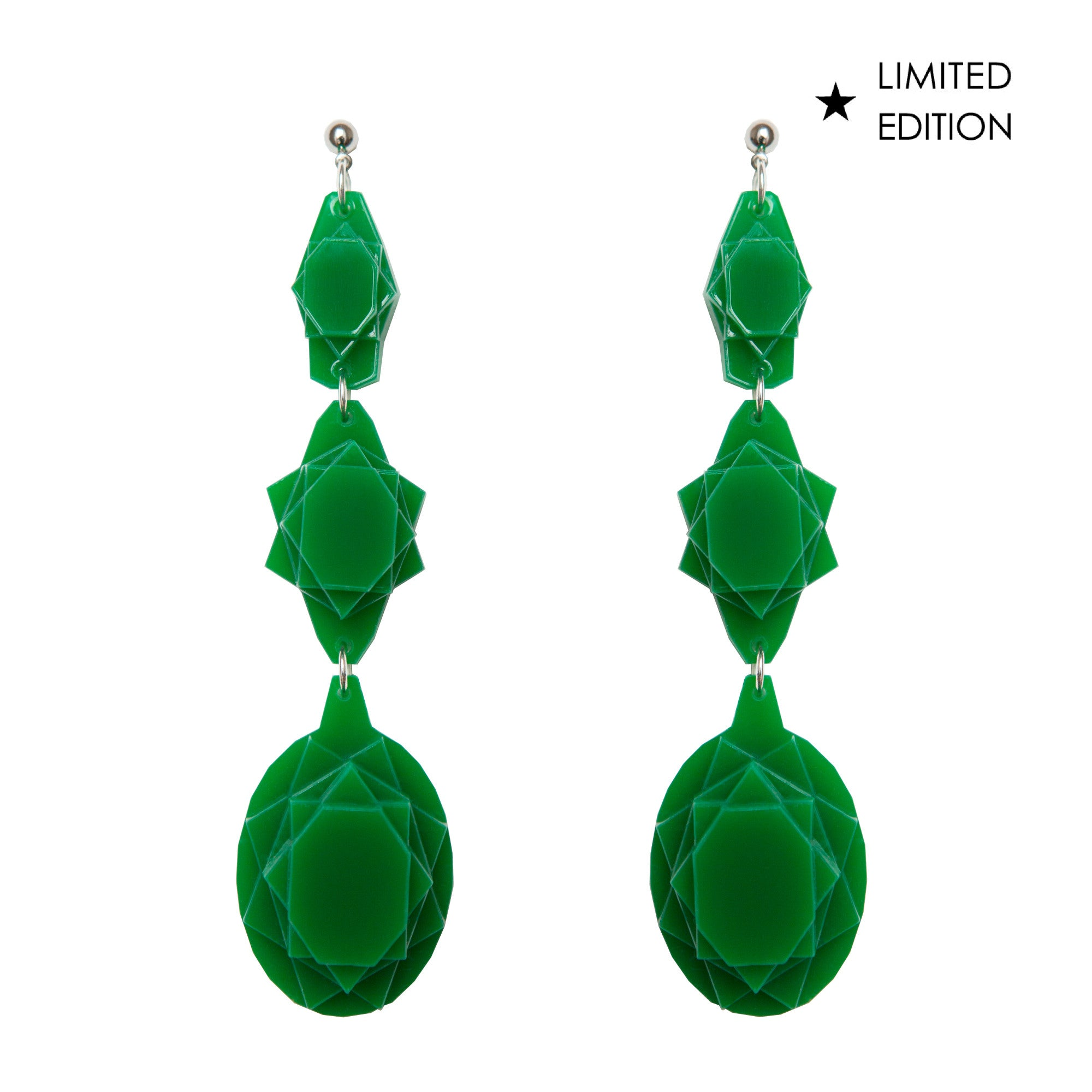 VECTORY OVAL JADE EARRINGS