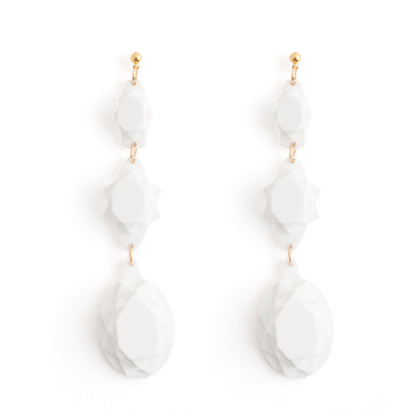 VECTORY OVAL SNOW EARRINGS