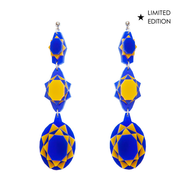 VECTORY OVAL SUNSET EARRINGS