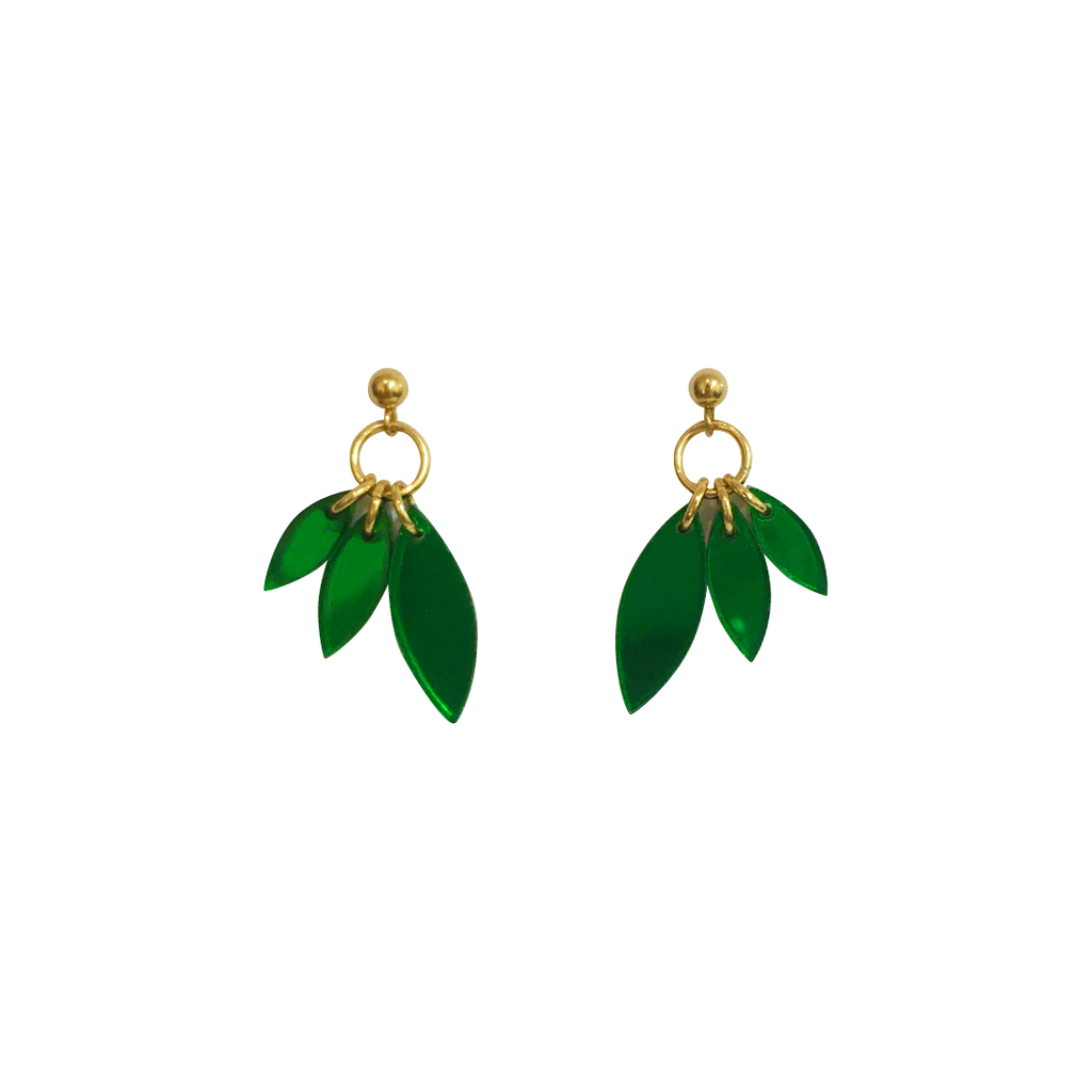 PETALS EMERALD EARRINGS