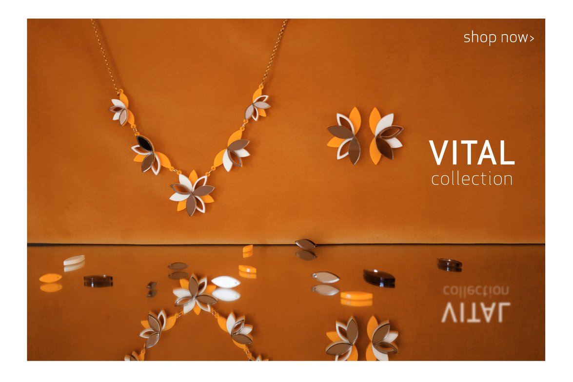 Vital Lotus necklace and earrings