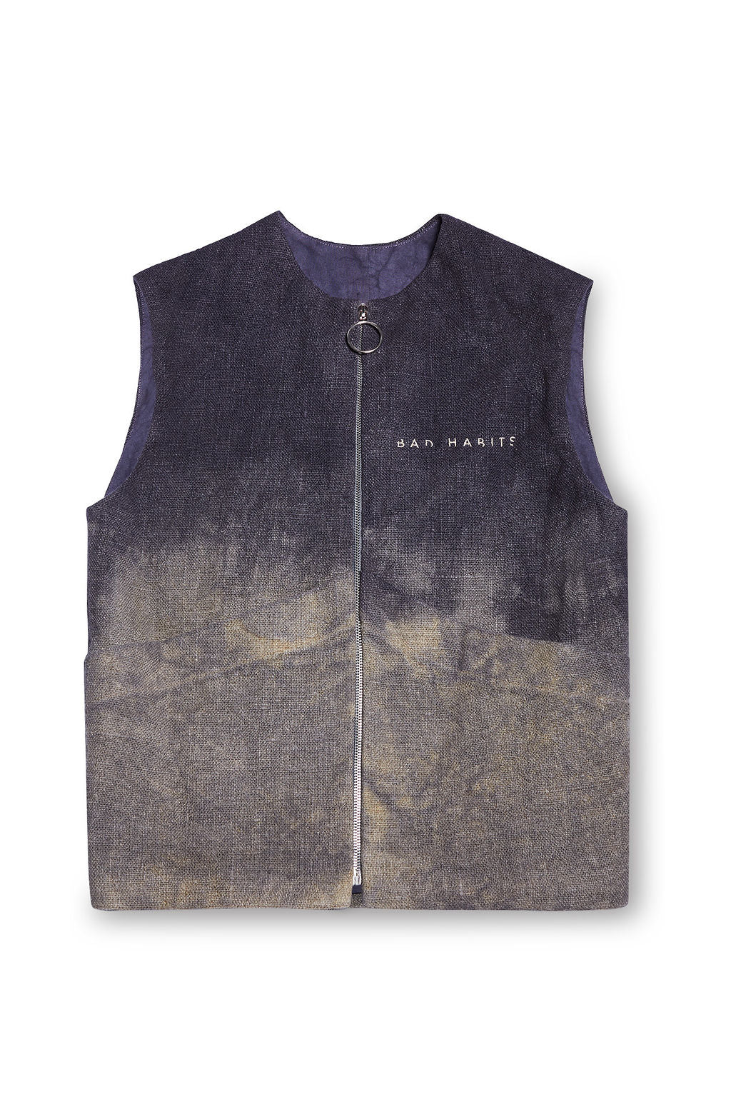 Anxiously Dip Dyed Zipped Up Vest