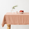 Blush Washed Linen Tablecloth