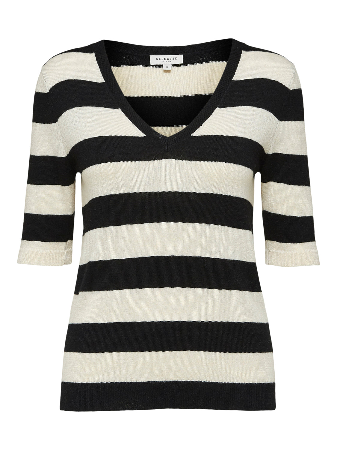 Peyton Knit Stripes Black/Birch