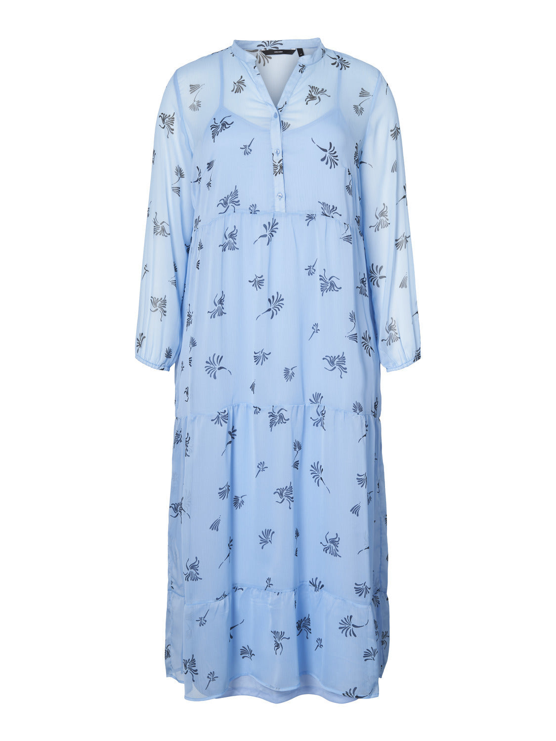 Lila Maxi Dress Placid Blue Flowers