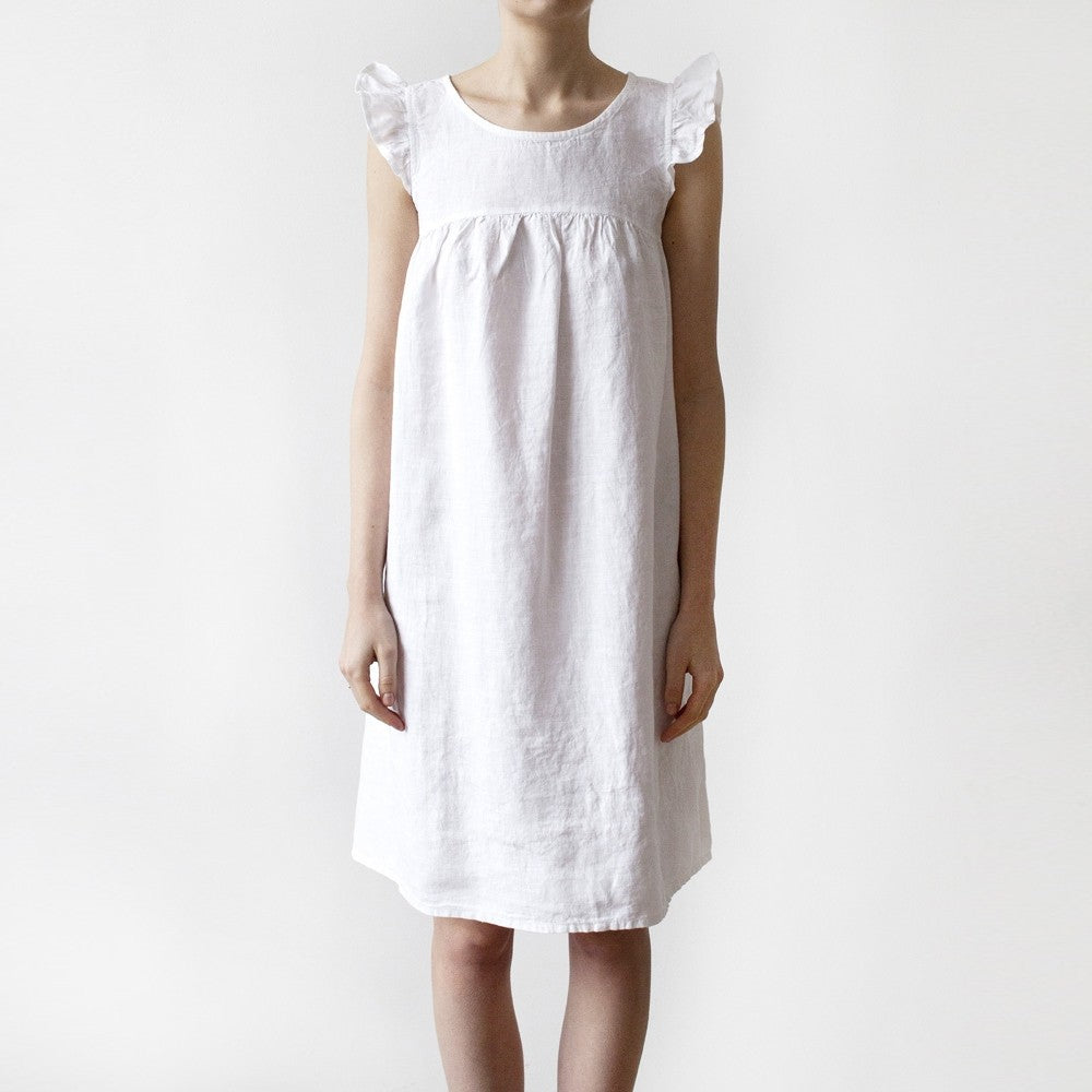 White Forget Me Not Night Dress