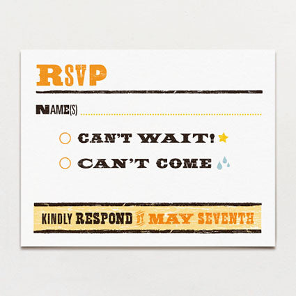 One Night Only Response Card