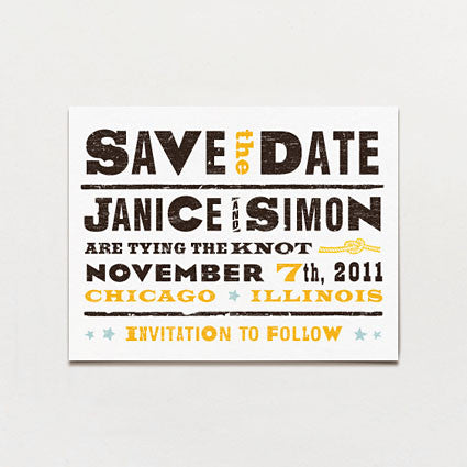 One Night Only Save The Date Postcard