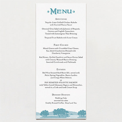 All Lit Up Menu