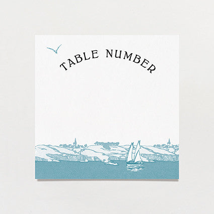 Acadia Island Table Number