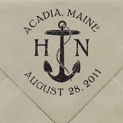 Acadia Island Rubber Stamp - $55