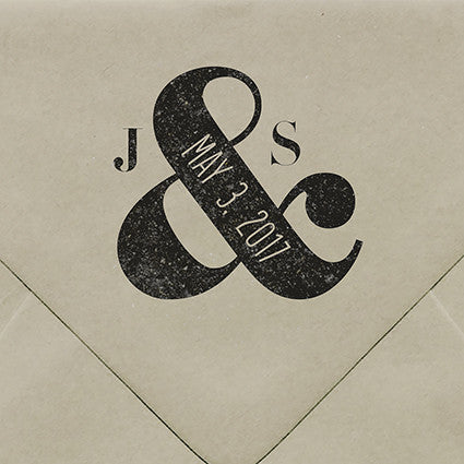Ampersand Rubber Stamp - $55