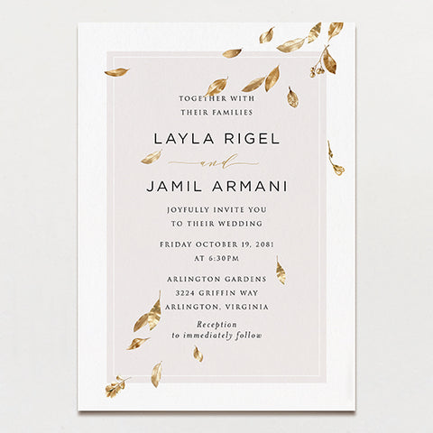 Avalon Wedding Invitation