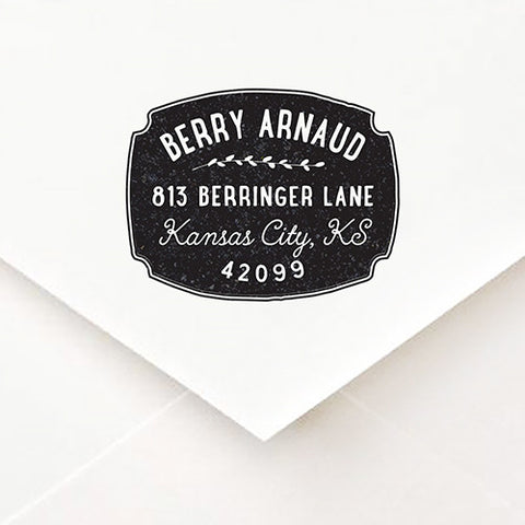 Badge Address Stamp - $55