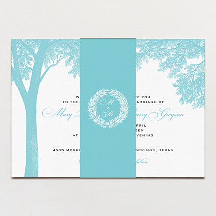 Banquet In The Woods Wedding Invitation