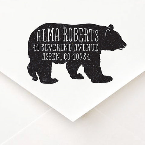 Bear Address Stamp - $55