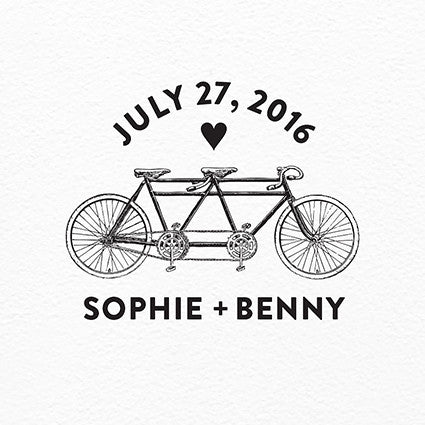 Bicycle Built For Two Printable Logo - $25
