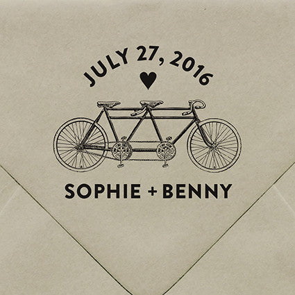 Bicycle Built For Two Rubber Stamp - $55