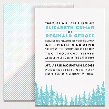 Big Sky Country Wedding Invitation