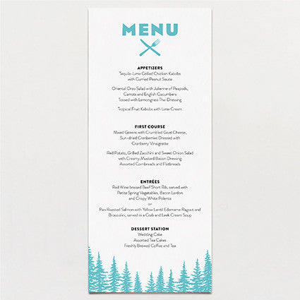 Big Sky Country Menu