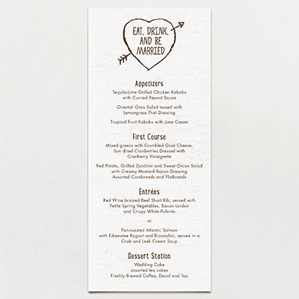 Birch Bark Love Menu