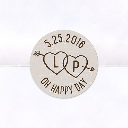 Birch Bark Love Logo Stickers