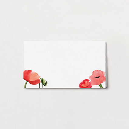Blowsy Poppy Place Card
