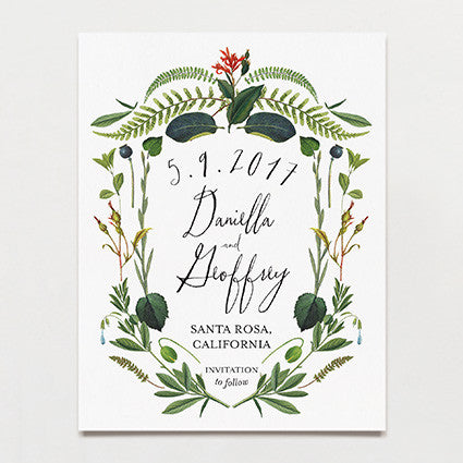 Botanical Baroque Save The Date Postcard