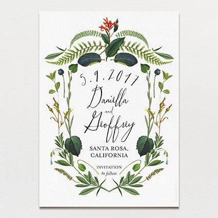 Botanical Baroque Save The Date