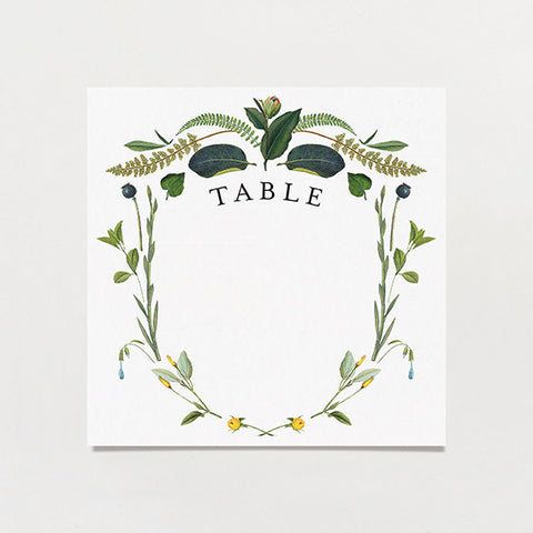 Botanical Baroque Table Number
