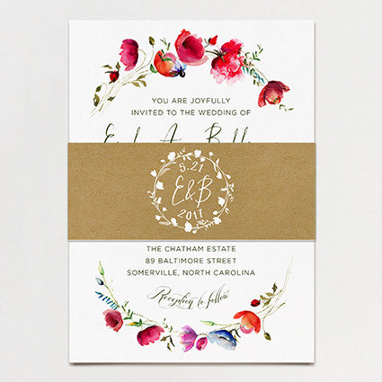 Bower Wedding Invitation