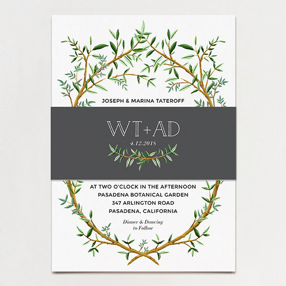 Branch Wedding Invitation