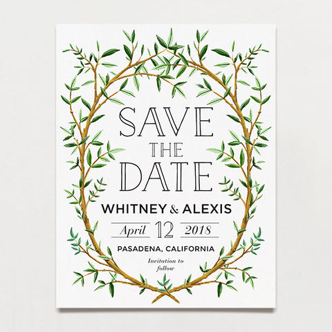 Branch Save The Date Postcard