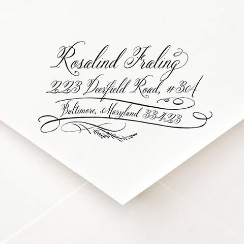 Calligrapher Swash Address Stamp - $45