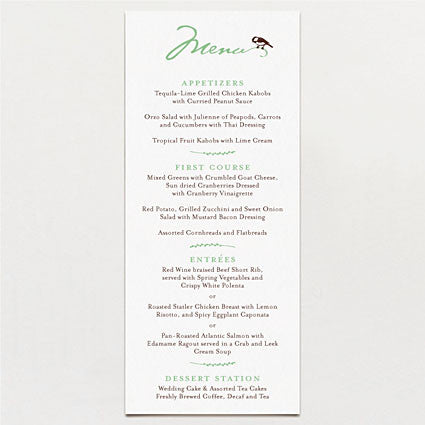 Carved Initials Menu
