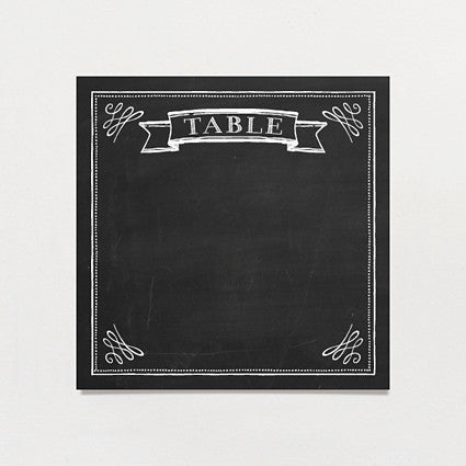 Chalkboard Love Table Number