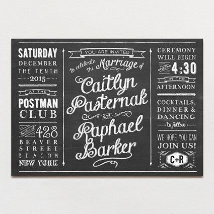 Chalkboard Love Wedding Invitation